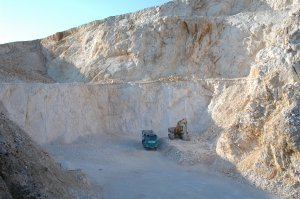 Illegal quarry in the Urbasa-Andia Natural Park