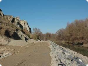 Desembocadura del Aragón en el Ebro