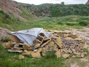 Uno de los puntos de vertido de residuos de poliuretano