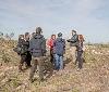 La Comisión de Medio Ambiente, respondiendo a la invitación de Gurelur, visita las zonas afectadas por las sacas forestales de Barcelosa y las planas de Santa Ana y Canraso