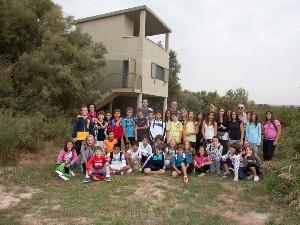 """Visita de escolares a la Estación de Anillamiento de """"Soto Bajo"""""""
