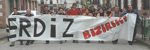 manifestacion euskera